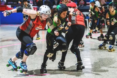 Fast and furious, roller derby
