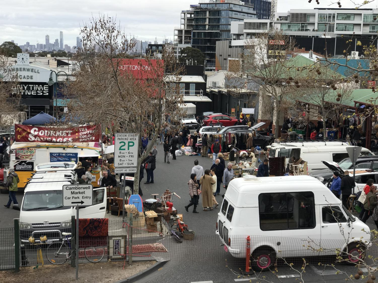 The popular Camberwell Market