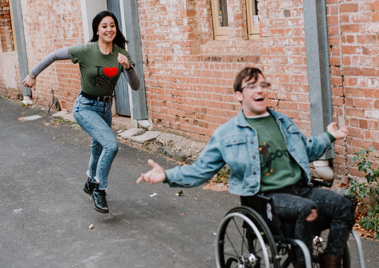 Angus Thompson and Nina Oyama star in The Angus Project.