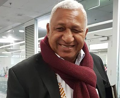 Prime Minister Voreqe Bainimarama … reelected with easily the strongest personal vote in the Fiji general election but his FijiFirst party has lost ground since 2014.
