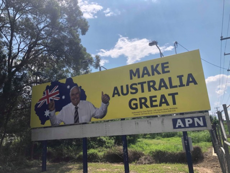 Clive+Palmer+is+trying+to+make+a+memorable+impression+in+the+Dickson+electorate+and+beyond.