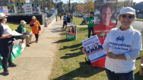 Easy Rider: Jacqui bikes around Sydney's polling booths