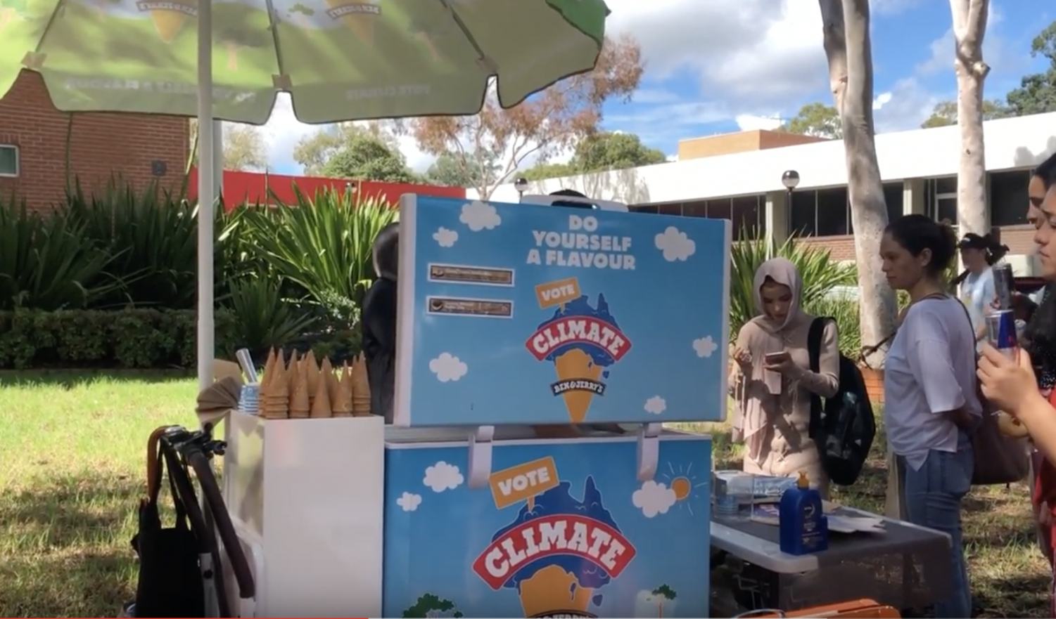 Ben and Jerry's push for Youth Vote and Climate Action at Western Sydney University