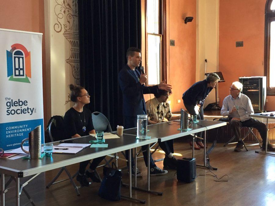 Duelling candidates spar at Glebe forum