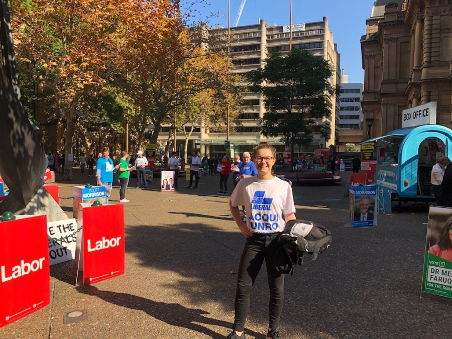 Easy Rider: Jacqui bikes around Sydney's polling booths