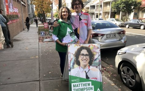 Matthew votes with mum by his side