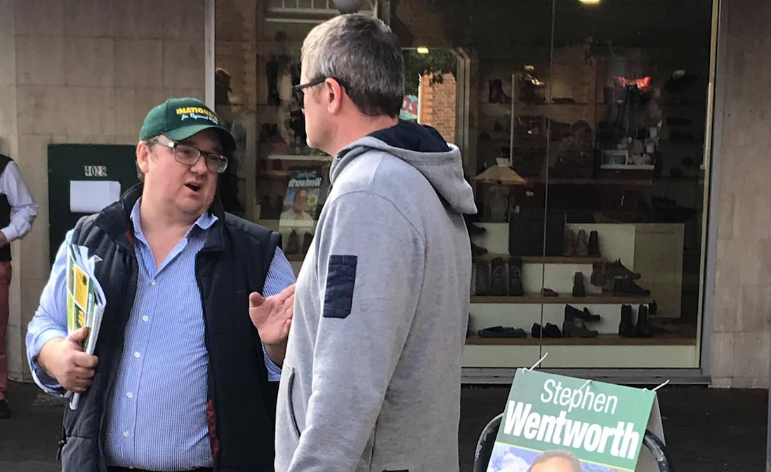 Nationals candidate for Whitlam Stephen Wentworth