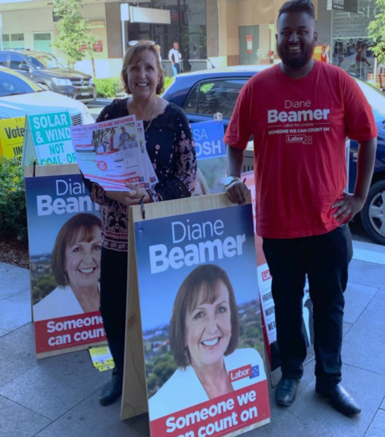 Labor+candidate+Diane+Beamer+campaigns+in+Penrith+