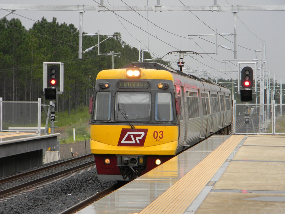 A train en-route to the Nambour Train Station on the NCL which is at the centre of debate regarding the B2N Project