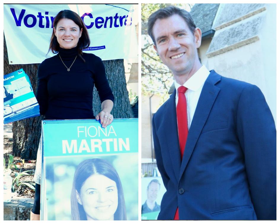Fiona Martin (Liberal) and Sam Crosby (Labor) in Reid