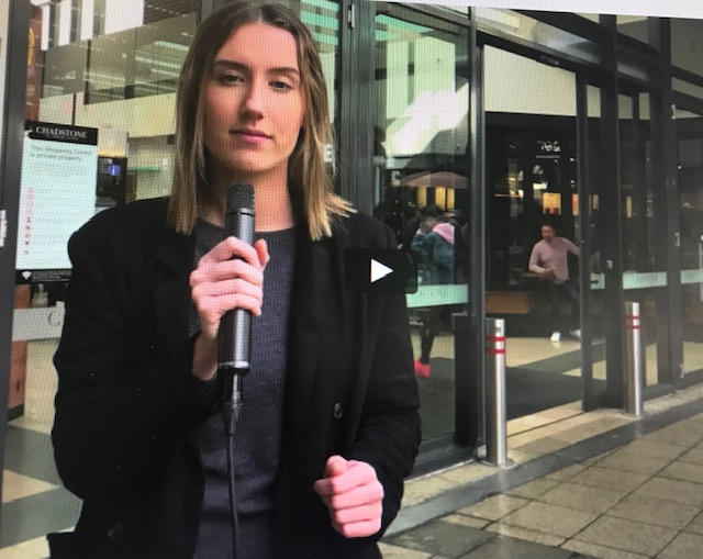 Swinburne's Maddie Wrench in conversation with the Labor candidate for Higgins